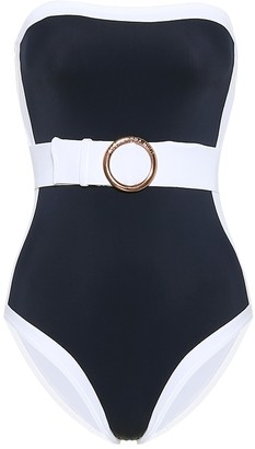 Alexandra Miro Whitney belted bandeau swimsuit