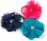 Stride Rite Chiffon Flower Elastics 3-pack
