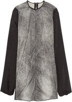 Rick Owens Printed coated cotton-blend tunic