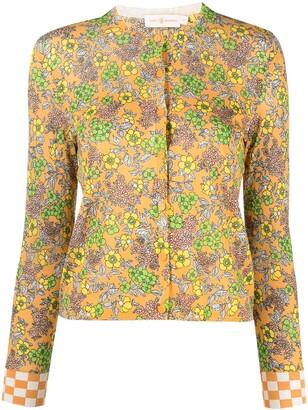 Tory Burch Wallpaper Floral-Print Cardigan