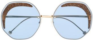Fendi Eyewear Oversized Geometric Sunglasses