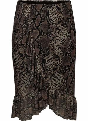 Zizzi Women's Langer Rock aus Mesh Skirt