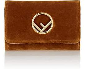 Fendi Women's Velvet Chain Wallet - Camel