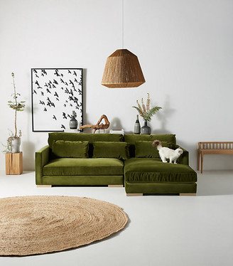 """Anthropologie Relaxed Sunday Chaise Sectional By in Assorted Size 104"""""""