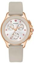 Michele Women's Cape Chronograph Silicone Strap Watch, 34Mm