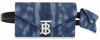 Burberry Denim Belted Envelope Clutch Bag
