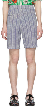 Marni Purple Check Pattern Shorts