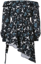 Christian Siriano printed off-the-shoulder blouse - women - Polyester/Spandex/Elastane - 4
