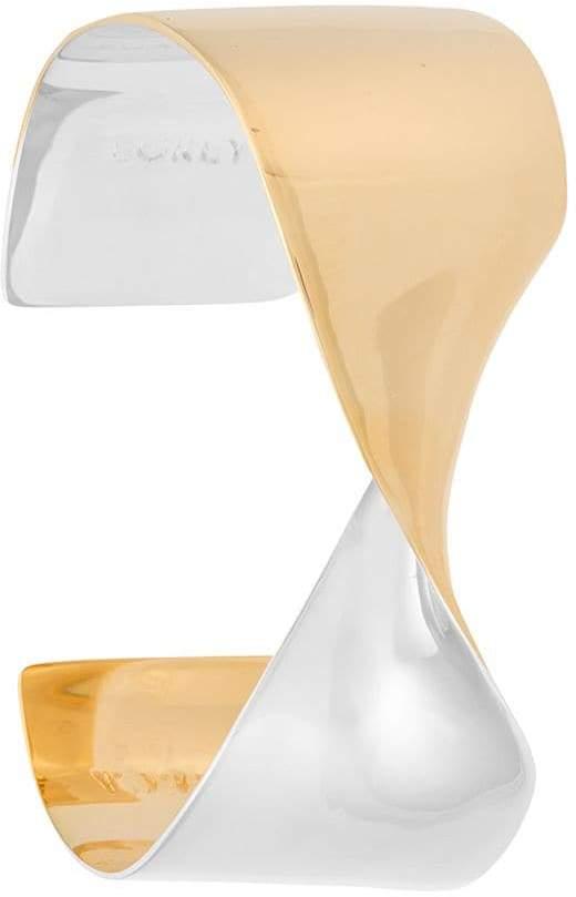 Egrey gold plated twisted cuff