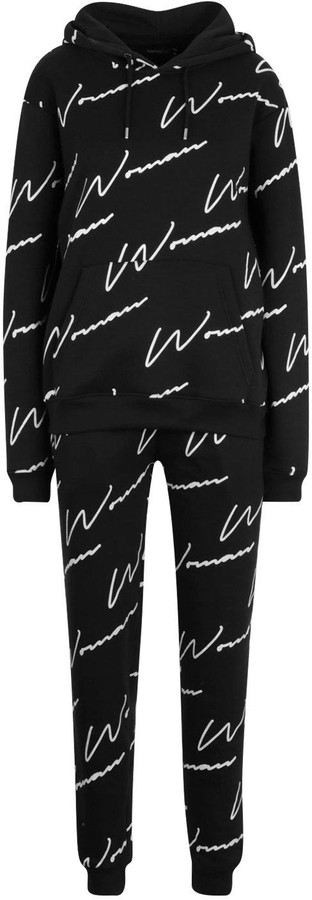 Thumbnail for your product : boohoo Woman All Over Print Tracksuit