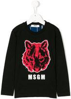 MSGM wolf print shirt