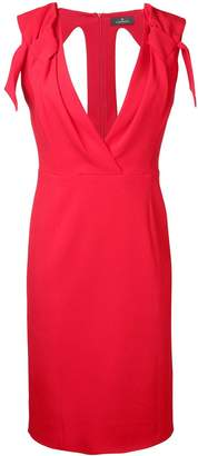Capucci v-neck fitted dress