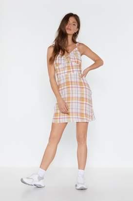 Nasty Gal Womens Crinkle Twice Check Mini Dress - White - 8, White