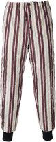 Marni striped quilted trousers