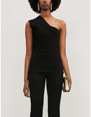 Roland Mouret Coson one-shouldered knitted top