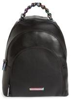 KENDALL + KYLIE Sloane Iridescent Hardware Leather Backpack - Black