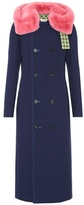 Marni Fur-trimmed wool crêpe coat