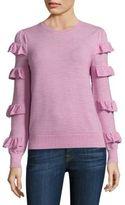 Rebecca Taylor Ruffle Wool Sweater
