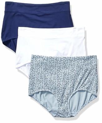 Olga Women's No Pinching No Problems 3 Pack Cotton Tailored Brief Panties
