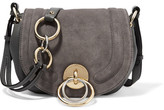 Diane von Furstenberg Love Power Textured-leather And Suede Shoulder Bag - Gray