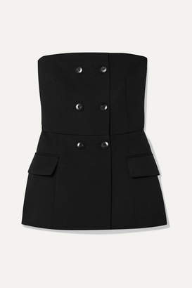 Givenchy Double-breasted Wool-blend Twill Bustier Top - Black