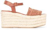 Paloma Barceló wedge sandals - women - Jute/Leather/rubber - 36
