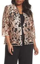 Alex Evenings Top & Embroidered Jacket