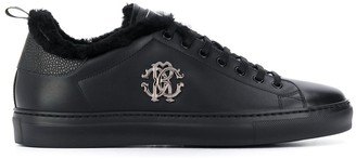 Roberto Cavalli Monogram Plaque Low-Top Sneakers