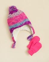 Capelli Girls' Marled Spacedye Hat & Mittens Set - One Size
