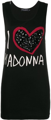 Dolce & Gabbana Pre-Owned Madonna print tank top