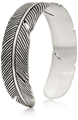 Sophie Simone Designs Feather Bracelet In Silver