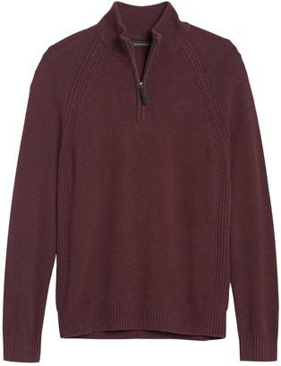 Banana Republic Italian Merino-Blend Half-Zip Sweater
