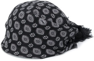 Saint Laurent Printed Scarf Hat