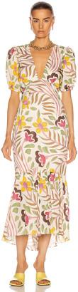 Rhode Resort Ester Dress in Thread Embroidery   FWRD