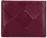 Bottega Veneta Card Holder In Woven Maxi Leather