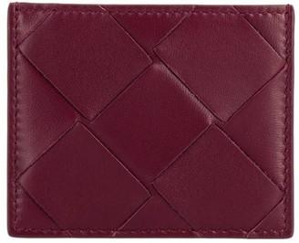 Bottega Veneta Card Holder In Woven Maxi Leather