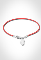 Satin Cord Hamsa Bracelets in Red/Silver