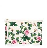 Dolce & Gabbana tropical rose print clutch bag