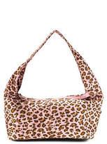 Neiman Marcus Pink Animal Print Suede Shoulder Handbag New