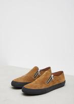 Dries Van Noten sand side zip slip-on sneaker
