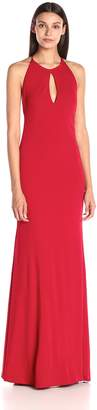 Jovani Jvn By JVN by Women's Fitted Red Halter Dress 0