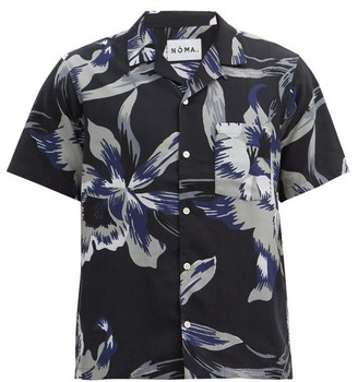 Noma t.d. Floral-print Poplin Shirt - Grey
