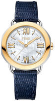Fendi Two-Tone Edition Stainless Steel Leather Strap Watch, F8081345A3