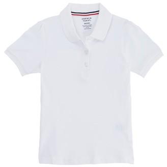 French Toast Girls Plus 12-20 School Uniform Short Sleeve Stretch Pique Polo Shirt