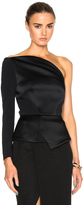 Roland Mouret Dryden Double Faced Satin & Viscose One Shoulder Top