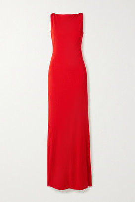 Alexander McQueen Ruched Stretch-jersey Gown - Red