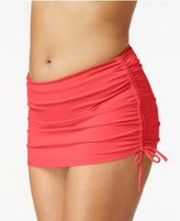 Island Escape Plus Size Side-Tie Swim Skirt