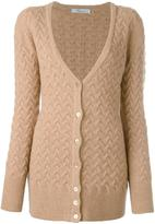 Blumarine cross knit cardigan