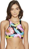Body Glove Women's Sunlight Leelo High Neck Cropped Bikini Top