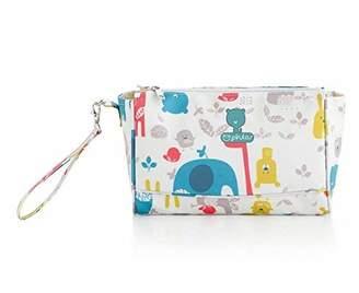 Camilla And Marc pirulos 47912220 - Cosmetic Bag, Design Happy Zoo, 20 x 26 cm, White/Grey